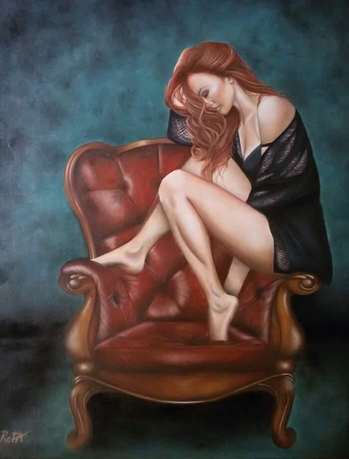 Consapevolezza - olio su tela di Eleonora Rota