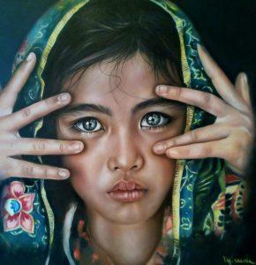 Solidea - olio su tela di Miranda Santoro
