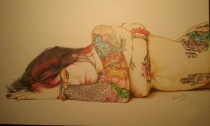 L'abbandono, matite colorate su Fabriano liscio Manuela Tosi