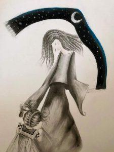 La madre notte, disegno di Dalila Lazzarini (Daly Art)