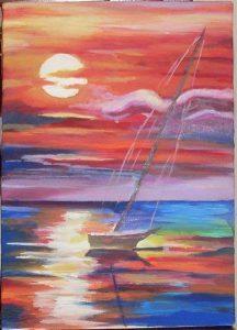 Filomena Fiorenza - il mare dell'Anima - acrilico su tela