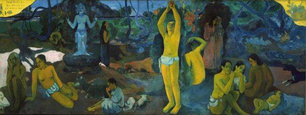 """""""Da dove veniamo? Chi siamo? Dove andiamo?"""" - olio su tela 139×374.5 cm - Paul Gauguin, 1897. Museum of Fine Arts, Boston"""