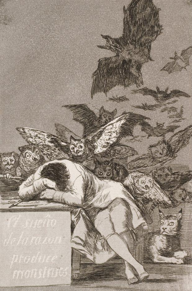 Il sonno della ragione genera mostri - Goya